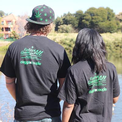 African Cannabis Tshirt Back